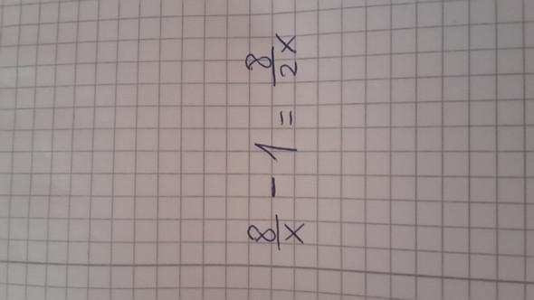 Diese Bruchgleichung  - (Mathematik, Bruchgleichungen)