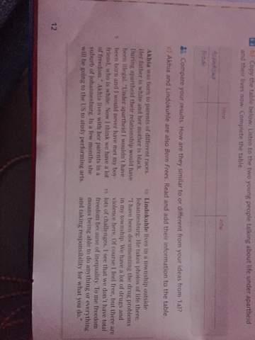 Kann mir jemand bei der englisch Aufgaben helfen?
