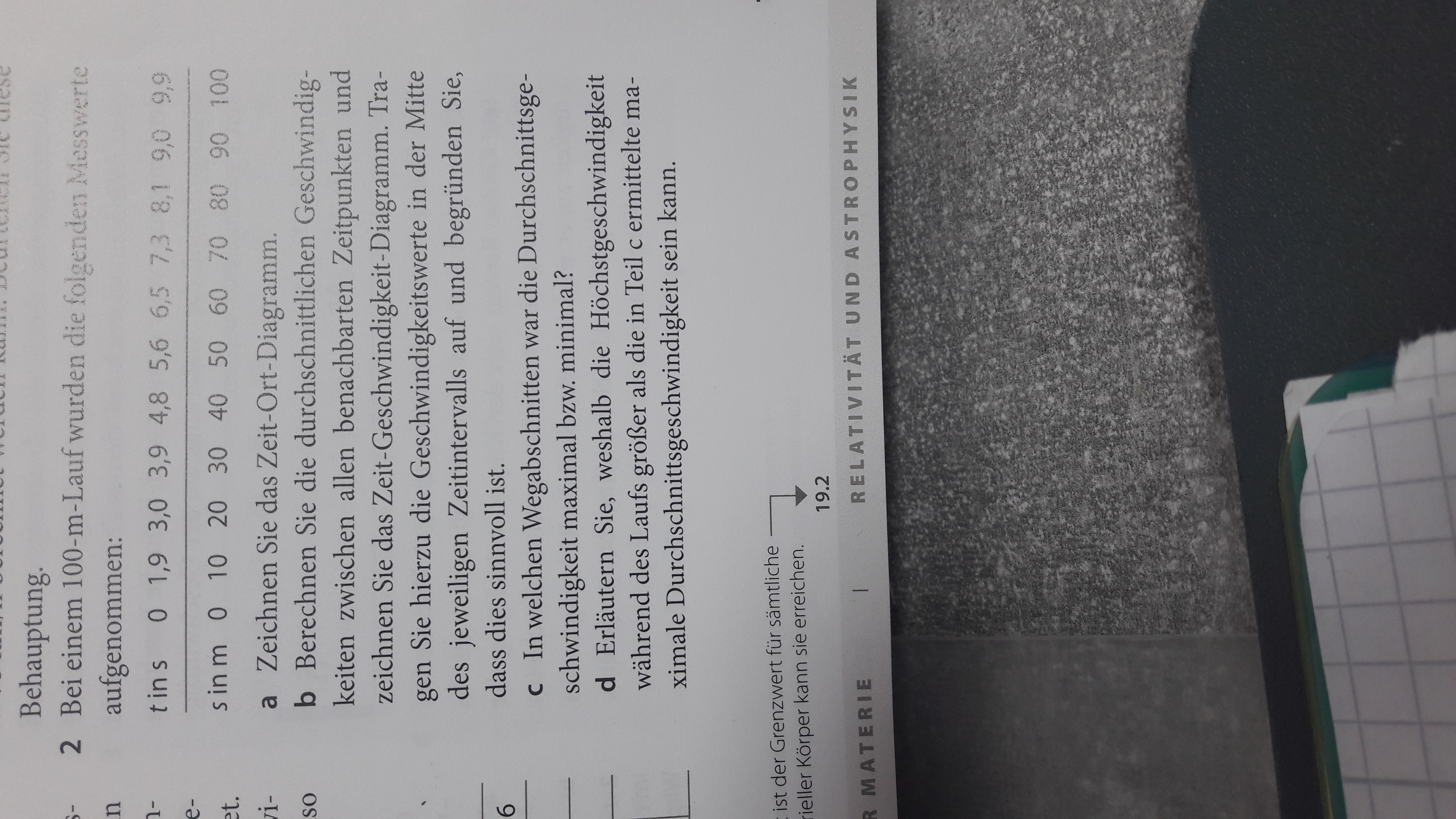 Kann mir jemand bei der Hausaufgabe helfen? (Schule, Physik ...