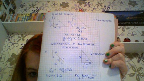 Kann mir jemand bei der mathe aufgabe helfen habe ich was falsch gemacht?