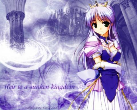Feena fam Earthlight (und ich glaube, auch die Burg ist die selbe) - (Anime, blau, Schloss)