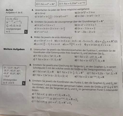 Kann mir jemand bei diesen Analysisaufgaben helfen?