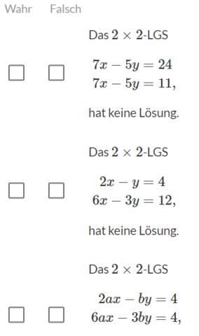 Kann mir jemand bei diesen Mathe-Aufgaben helfen (Lineare ...