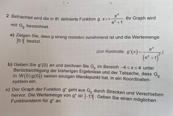 Kann mir jemand bei dieser Analysisaufgabe helfen?
