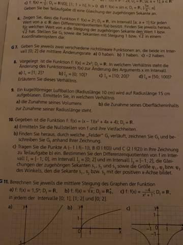 Kann mir jemand bei dieser Differenzquotienten-Aufgabe helfen?