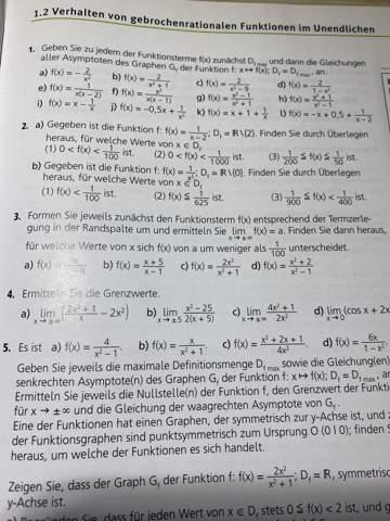 Kann mir jemand bei dieser gebrochen rationalen Aufgabe helfen?