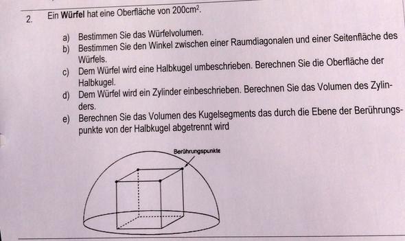 Aufgabe - (Mathematik, Geometrie, Stereometrie)
