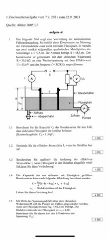 Kann mir jemand bei dieser Physik Aufgabe helfen?