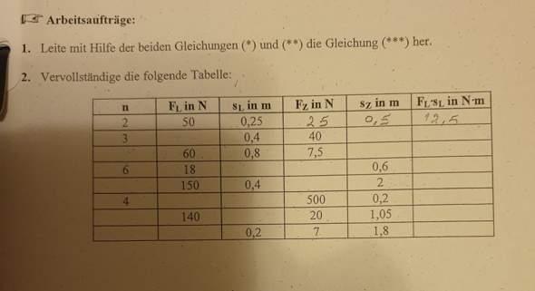 Kann mir jemand bei meinen Physik Hausaufgaben helfenb?