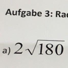 2Wurzel180 - (Mathe, radizieren)