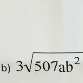 3Wurzel507abhoch2 - (Mathe, radizieren)