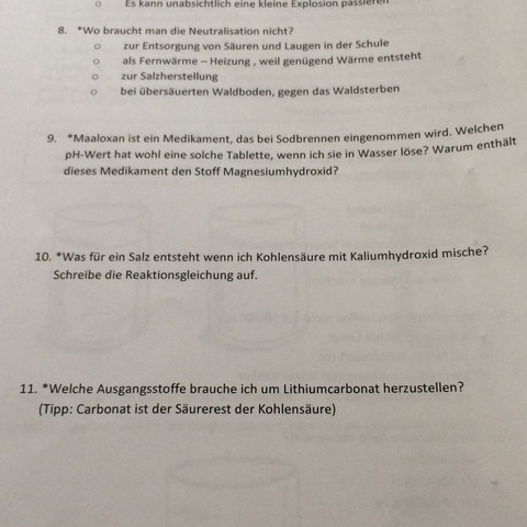 Hsjshsbs - (Schule, Chemie, Säure)
