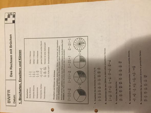 Brüche  - (Mathematik, Wissen, Rechnen)