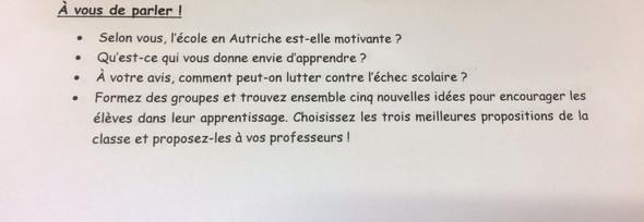 Bildung und schule - (Schule, franzoesisch, Text)