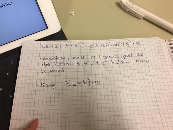 Die Aufgabe und die Lösung  - (Mathematik, höhere Mathematik)