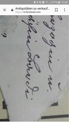 - (Name, Schreiben, alt)