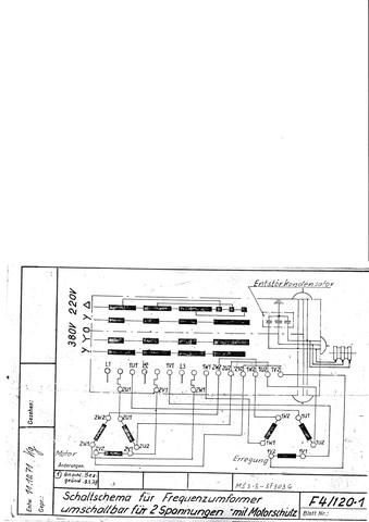 Kann mir jemand den Schaltplan eines Frequenzumformers erklären ...
