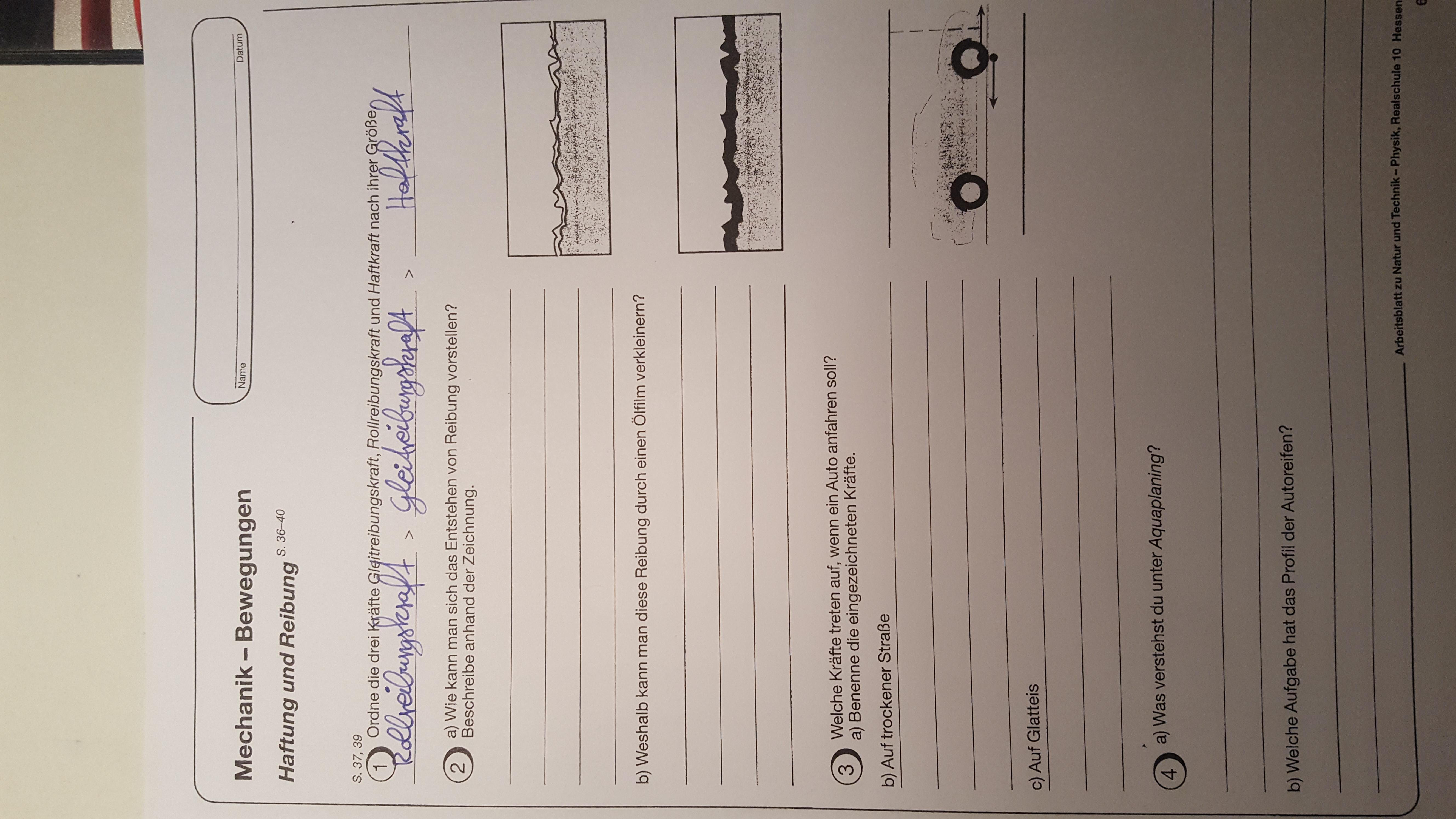 Kann mir jemand die Aufgabe in Physik erklären? (Schule, 10.Klasse, ha)