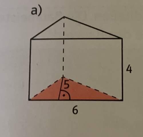 Kann mir jemand die Grundfläche des Dreieck Prismas berechnen?