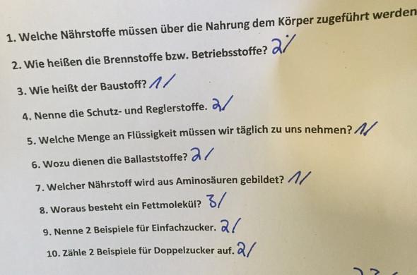 Fragen - (Arbeit, Biologie)