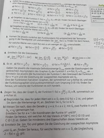 Kann mir jemand diese gebrochen rationale Aufgabe erklären  ?
