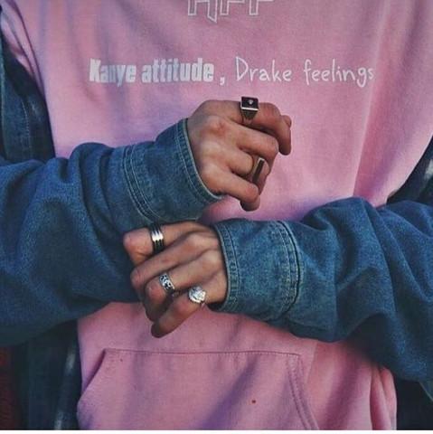 untere hand! - (Ring, Herren)