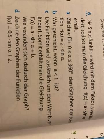 Kann mir jemand diese Textaufgabe erklären zur sinusfunktion?