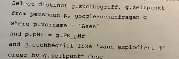 Kann mir jemand diesen SQL Befehl übersetzen?