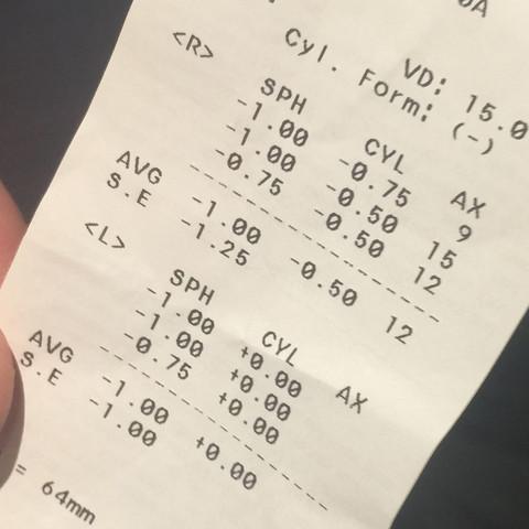 Kann mir jemand dieses Optiker Rezept erklären?