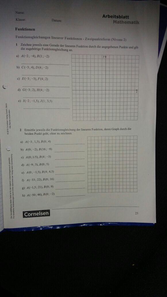 Kann mir jemand ein Beispiel nennen für nr 1 ? (Mathe)