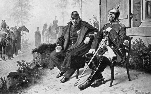 Napoleon als gefangener  - (Karikatur, Napoleon)
