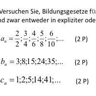 Aufgaben  - (Mathe, Reihe, sigma)