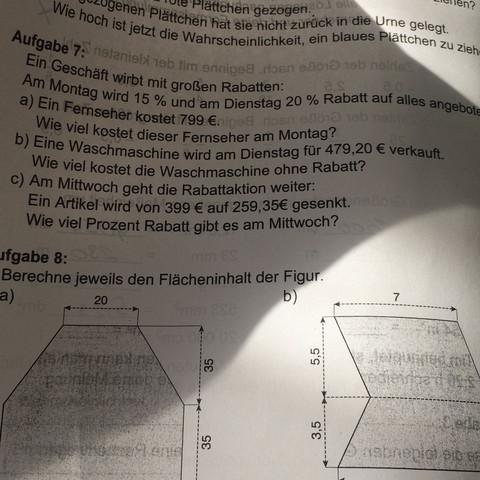 Die Aufgabe 7 ? - (Schule, Mathe, Mathematik)
