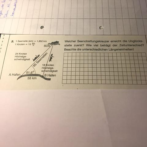 Kann mir jemand folgende Trigonometrie-Sachaufgaben lösen bzw ...