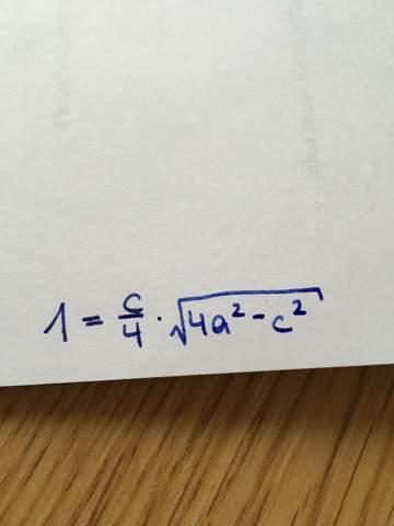 Kann mir jemand helfen, diese Rechnung auf c umzuformen?