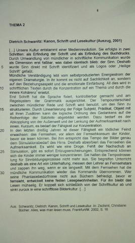 Textauszug - (Erörterung, Deutsche Sprache)