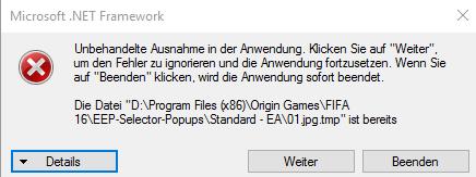 Hier die Fehlermeldung - (Fehler, Microsoft, Fehlermeldung)