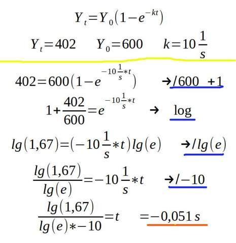 Kann mir jemand mit dieser Mathe Aufgabe helfen Y(t)=Y(0)*(1-e^(-k*t))?