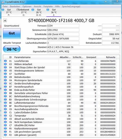 Smart Werte - (Festplatte)