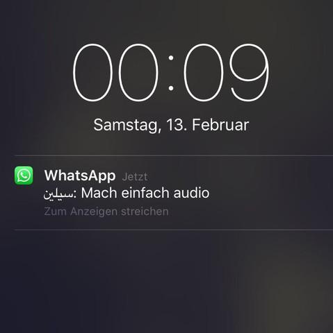 Danke im Voraus 😊😊 - (iPhone, WhatsApp, arabisch)