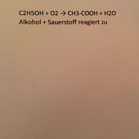 Das ist die Reaktionsgleichung - (Chemie, Formel)