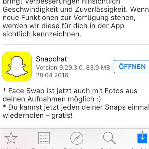 Da steht es  - (App, Snapchat, neu)