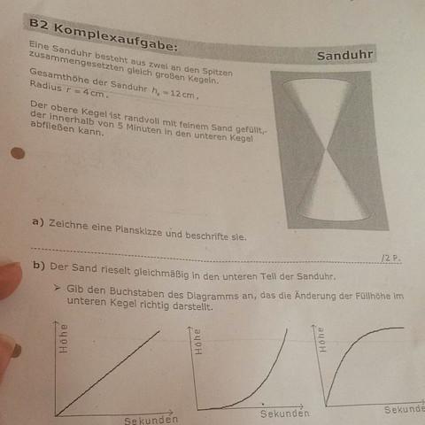Es geht um Aufgabe D auf der anderen Seite  - (Schule, Mathe, Stereometrie)