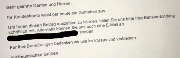 - (Bedeutung, Brief)