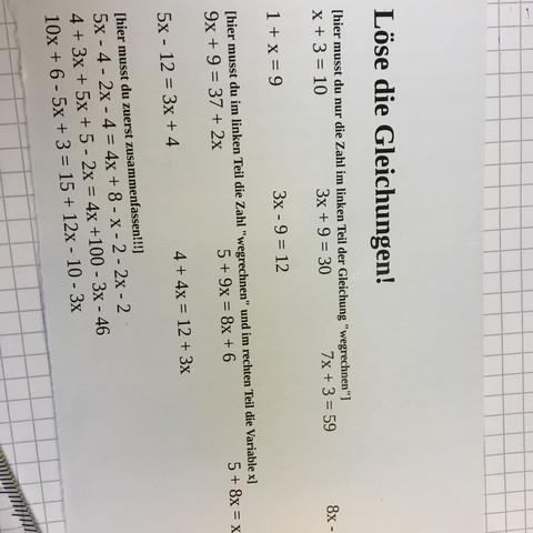 Mathe gleichungen  - (Mathe, Gleichungen)