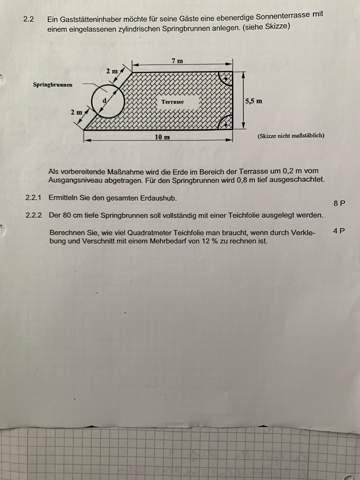 Kann mir wer bei der Zylinder Berechnung helfen?
