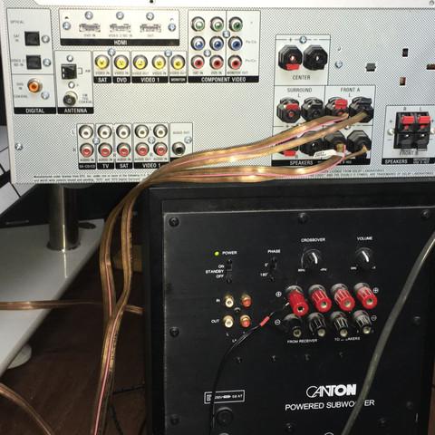 Sony STR-DG510 Verstärker Canton AS 20 Subwoofer  - (Musik, Technik, Film)