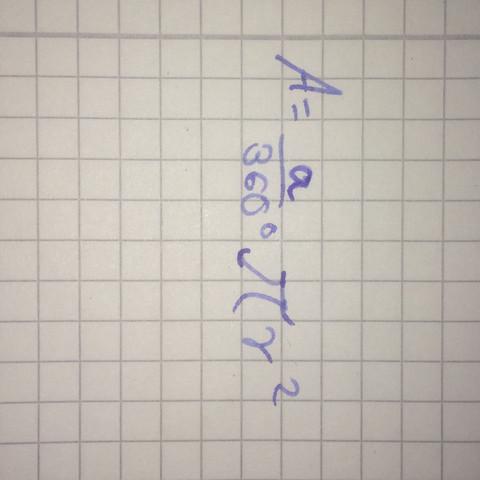 Formel umstellen Hilfe  - (Mathe, Kreisauschnitt)