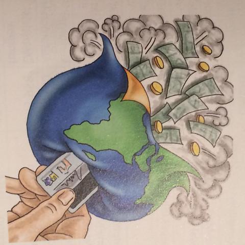 Hier das Bild! bitte um Hilfe - (Globalisierung, bestimmte Karikatur)