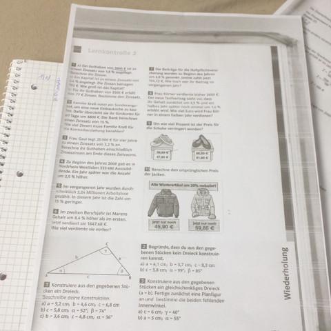 Mathe Aufgabe Zinsrechnung  - (Mathe, Zinsrechnung)